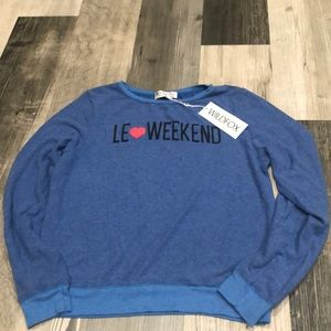 Wildfox Le Weekend Sweatshirt Blue